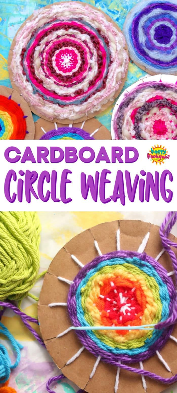 Photo of Easy Cardboard Circle Weaving for Kids