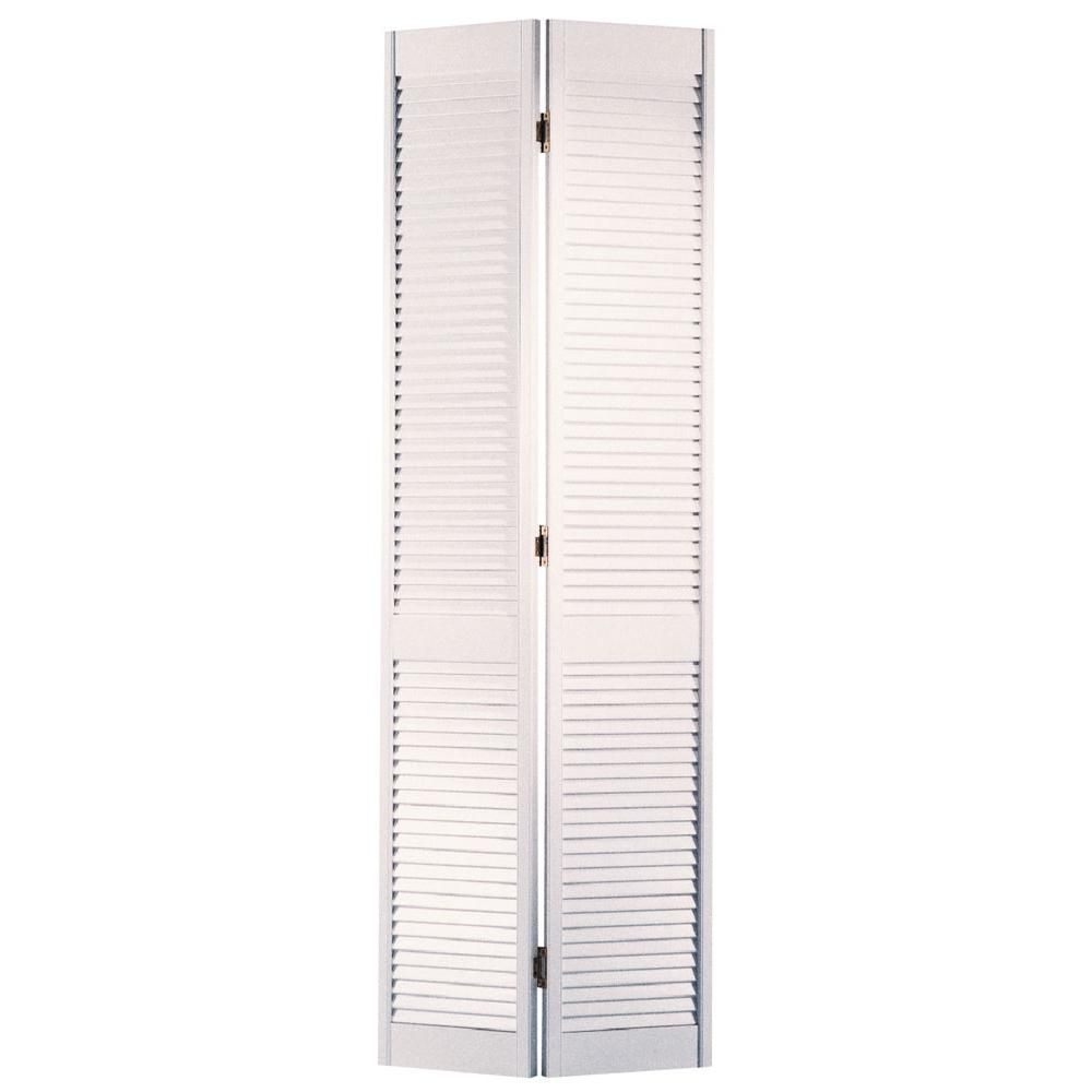 masonite 36 in x 80 in louvered primed white solid on Masonite 30 In X 80 In Half Louvered Primed Hollow id=61873
