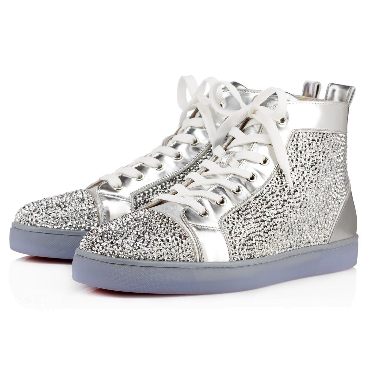 2d150df8fca3 LOUIS NAPPA LAMINATO STRASS Silver Strass - Men Shoes - Christian Louboutin