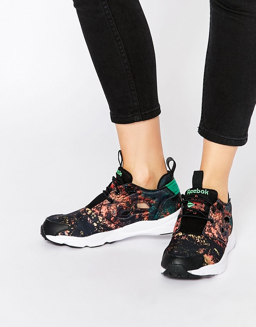 Buy Women Shoes / Reebok Furylite Sunrise Print Trainers