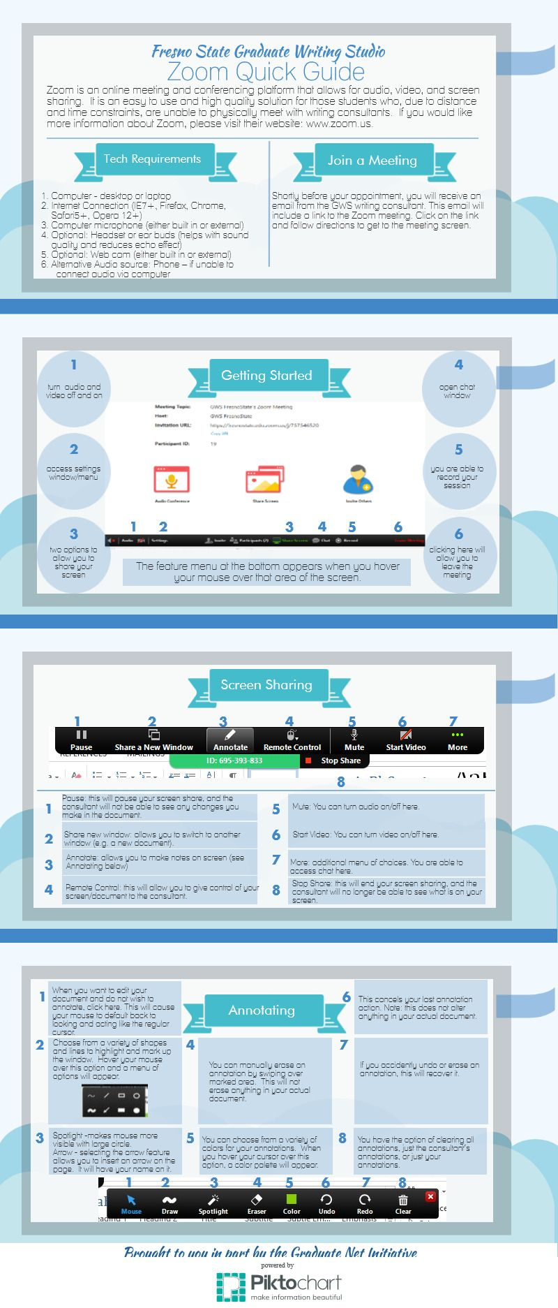 Zoom Quick Guide   @Piktochart Infographic   Technology
