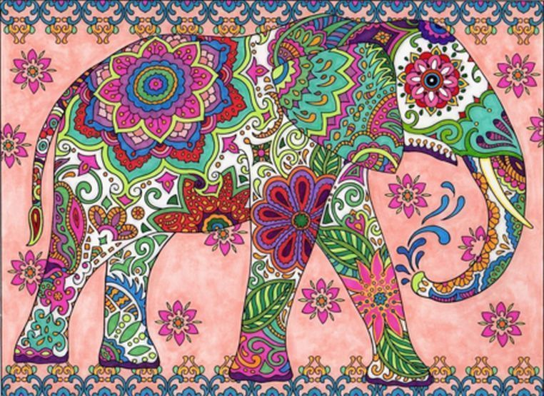 Coloring Book For Adults Amazing Magnificent Mehndi Designs Art Relaxing Therapy