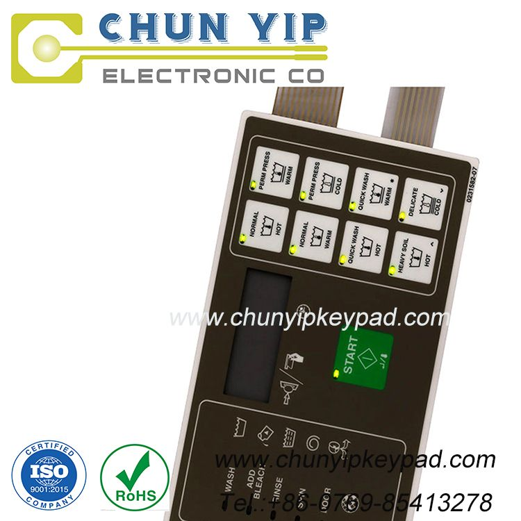 Polydome membrane keypad panel with LED switch supplier