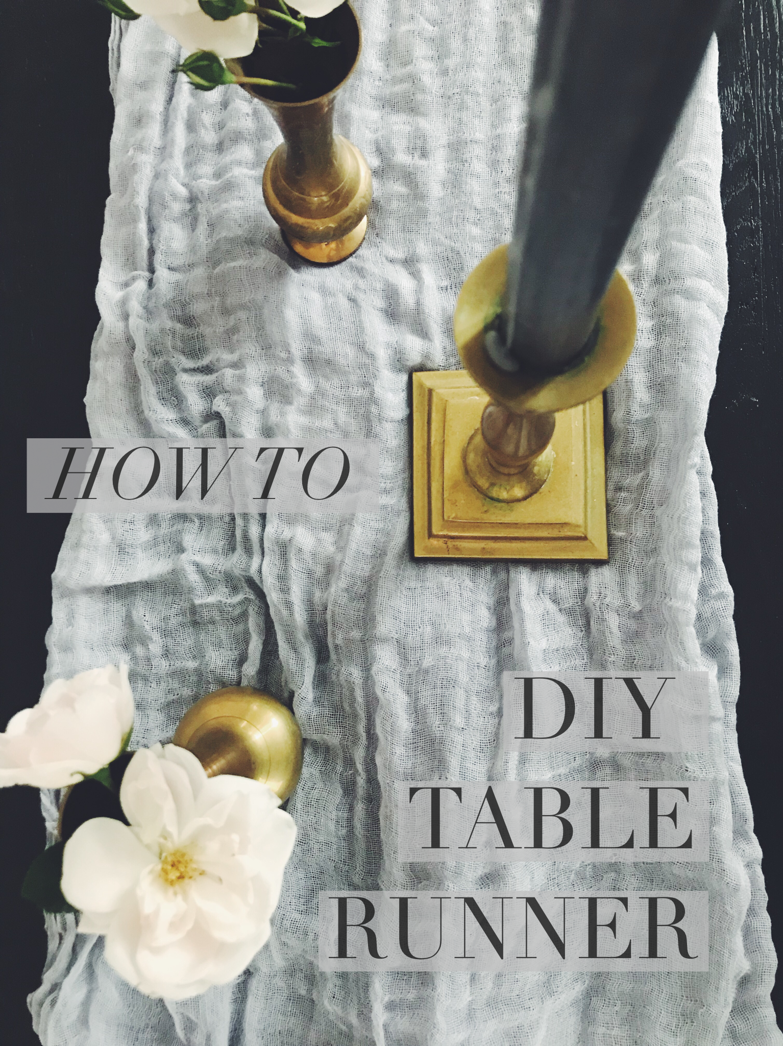 DIY Cheesecloth Table Runner | Wedding Table Runner | How-To