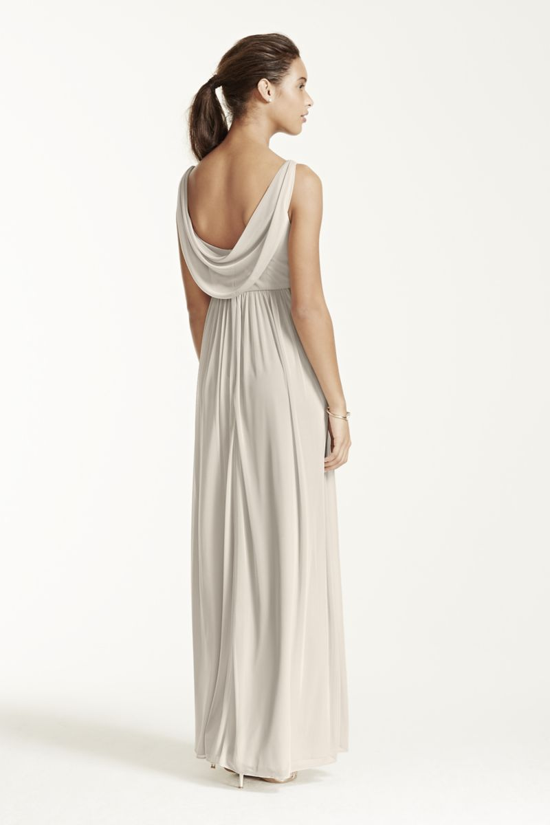 c181d36af7b Long Mesh Dress with Cowl Back Detail Style F15933