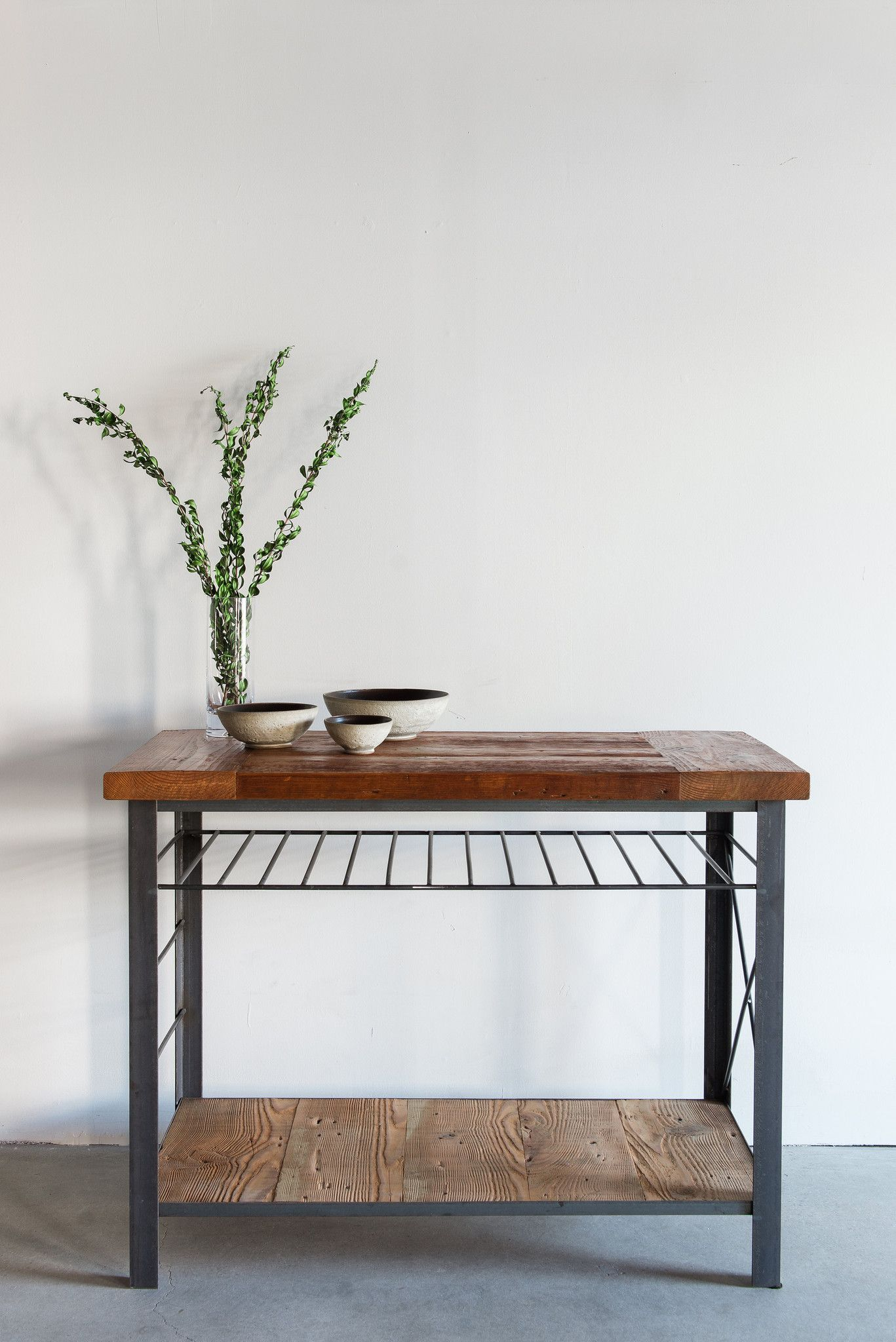 Railcar Kitchen Island Furniture, Handmade home