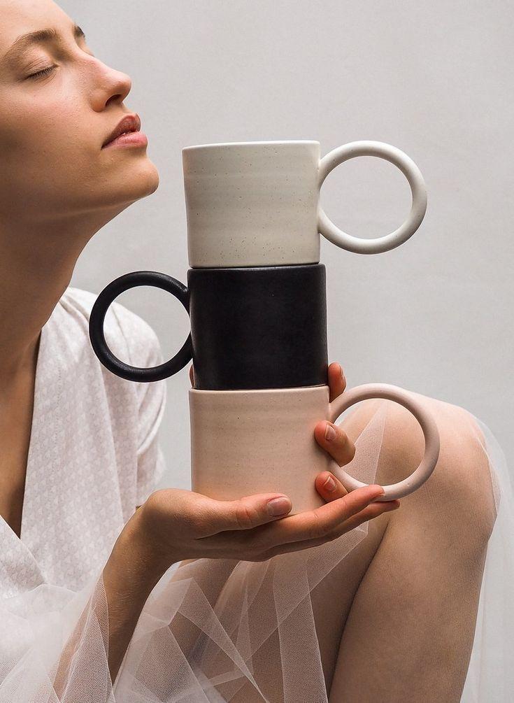 Round handle mug / L