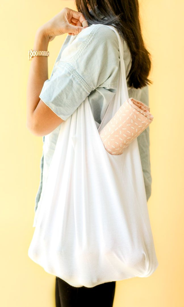 How to Make a DIY T-Shirt Tote in 10 Minutes or Less