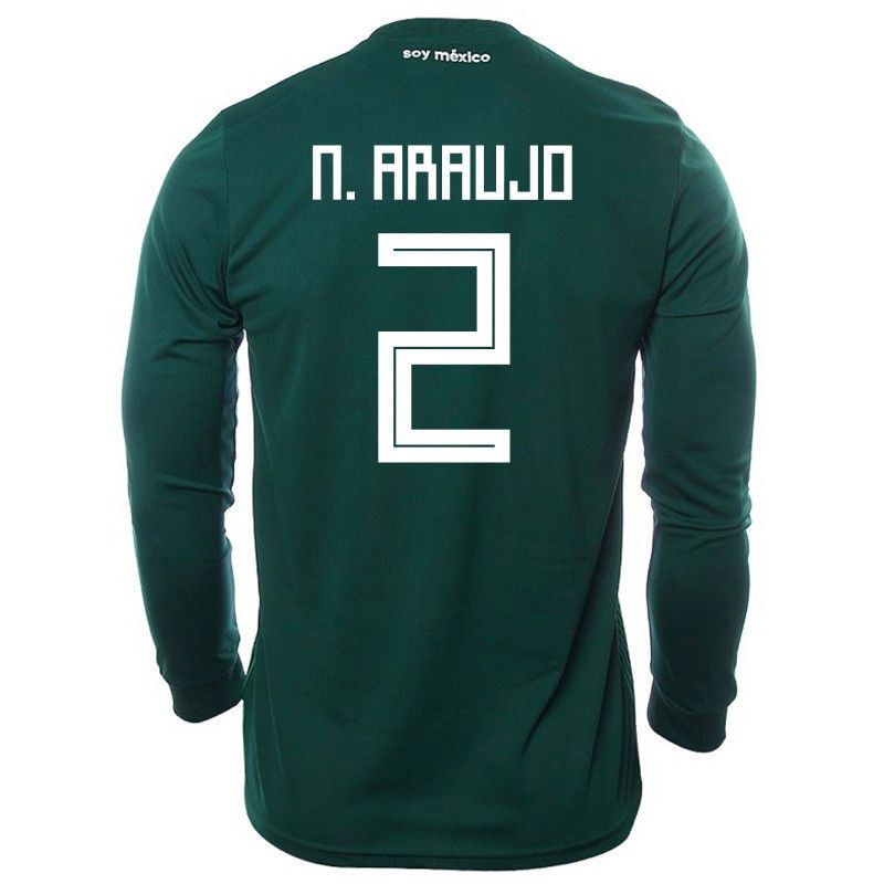 e8db1ce18 Adidas Mexico Home Long Sleeve Soccer Jersey World Cup Russia 2018 N.  Araujo  2 Discount Price 140.00 Free Shipping Buy it Now