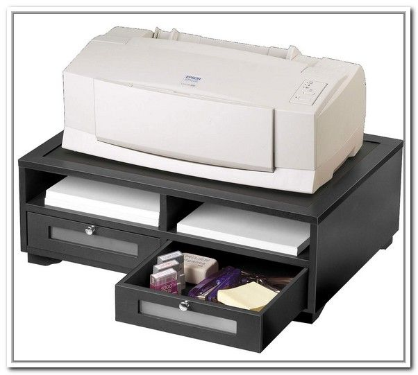 Likeness Of Printer Stand Ikea A Smart Solution To Organize Your Printer Printer Stand Printer Stand Ikea Printer Stands