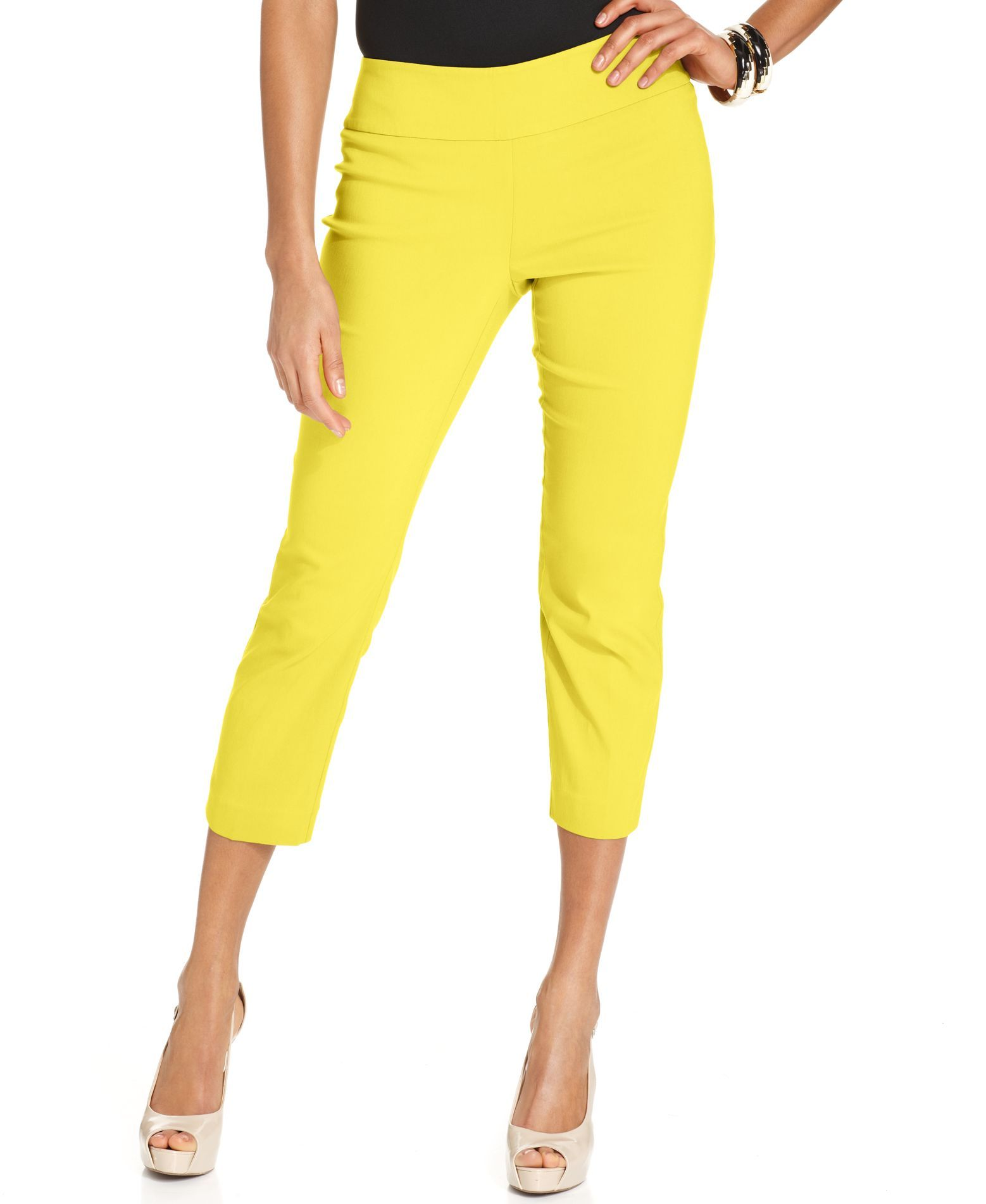 Alfani Skinny Pull-On Capri Pants, Only at Macy's