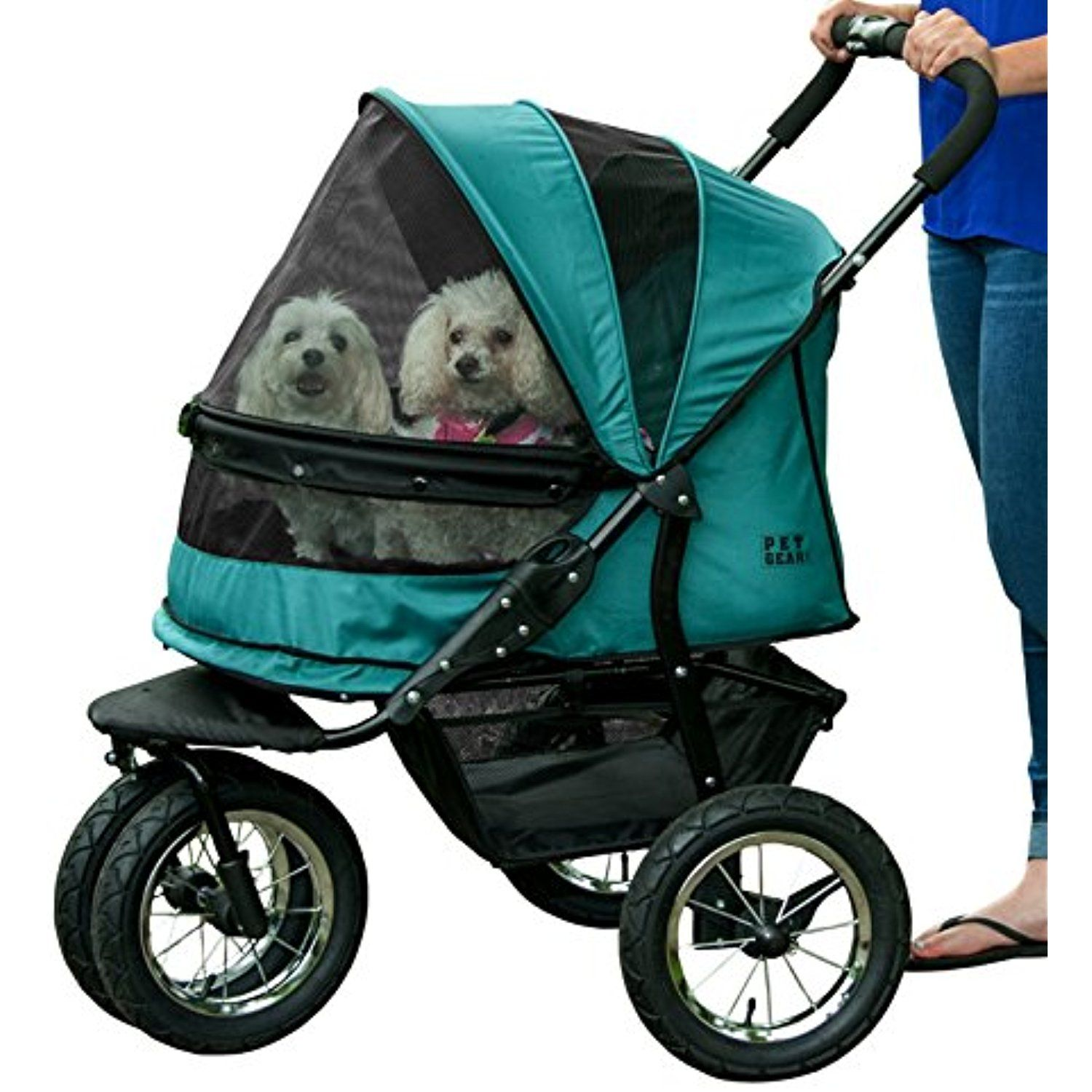 Pet Gear NoZip Double Pet Stroller, Zipperless Entry