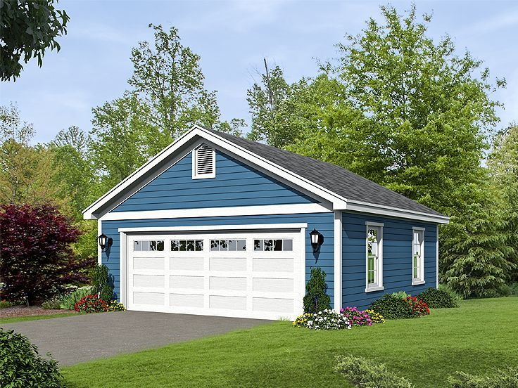 062G0085 2Car Garage Plan Size 24'x25' Detached