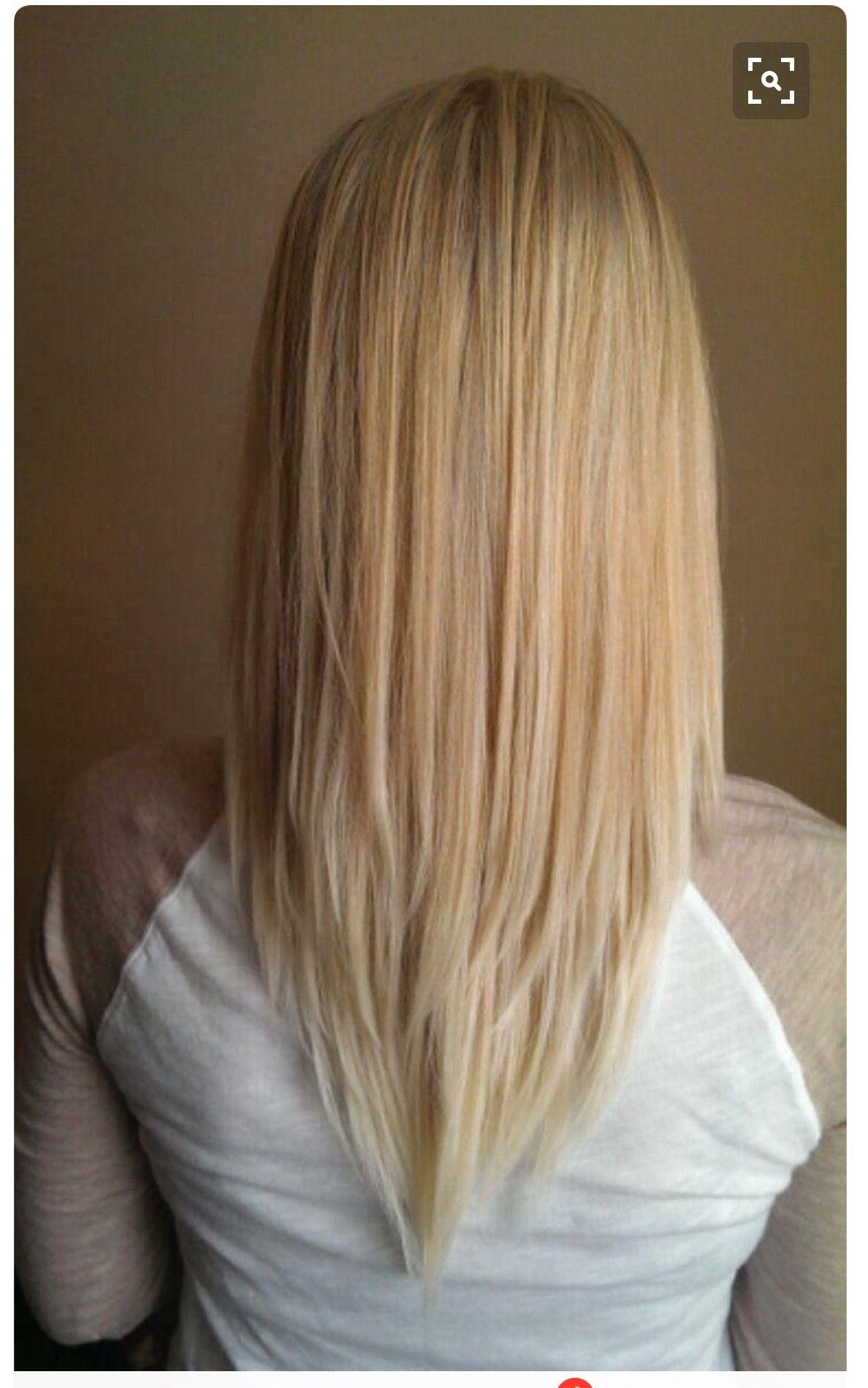 Corte en v en pelo corto
