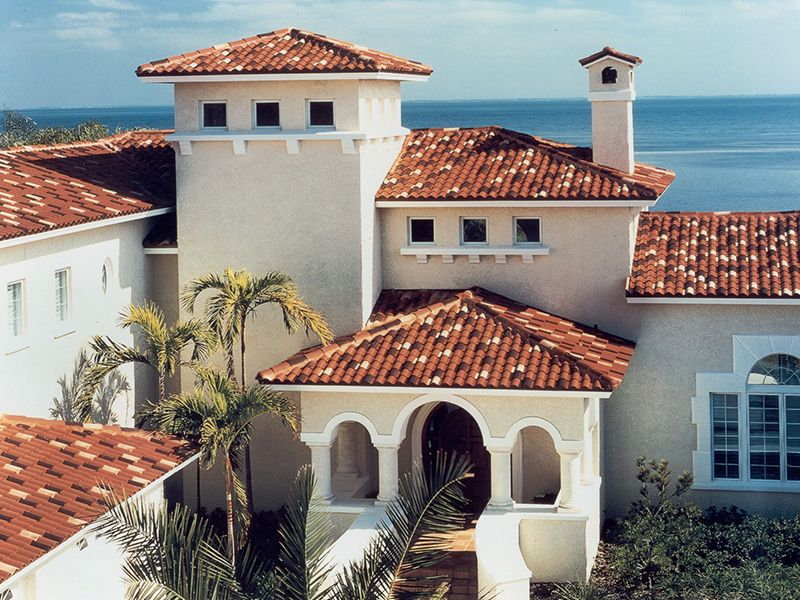 Best Tile Roof Spanish Style Home Multi Tone Tile Roof 400 x 300