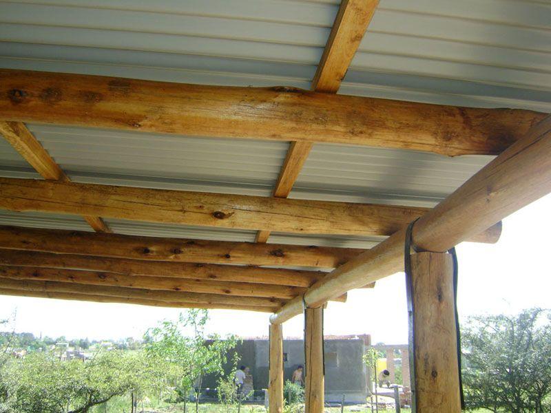 Techo de madera y lamina