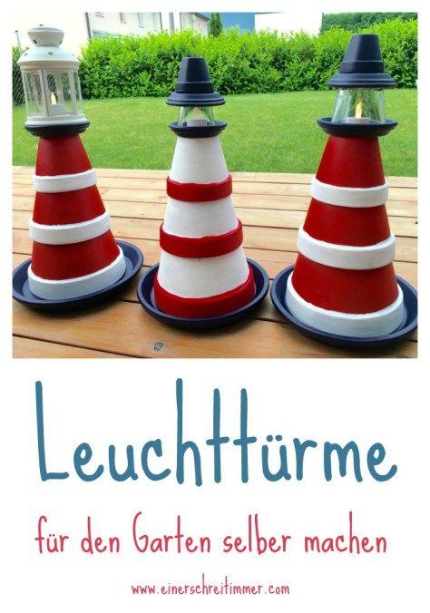 Garten-DIY Zum Sommerbeginn bauen wir einen Leuchtturm kinder