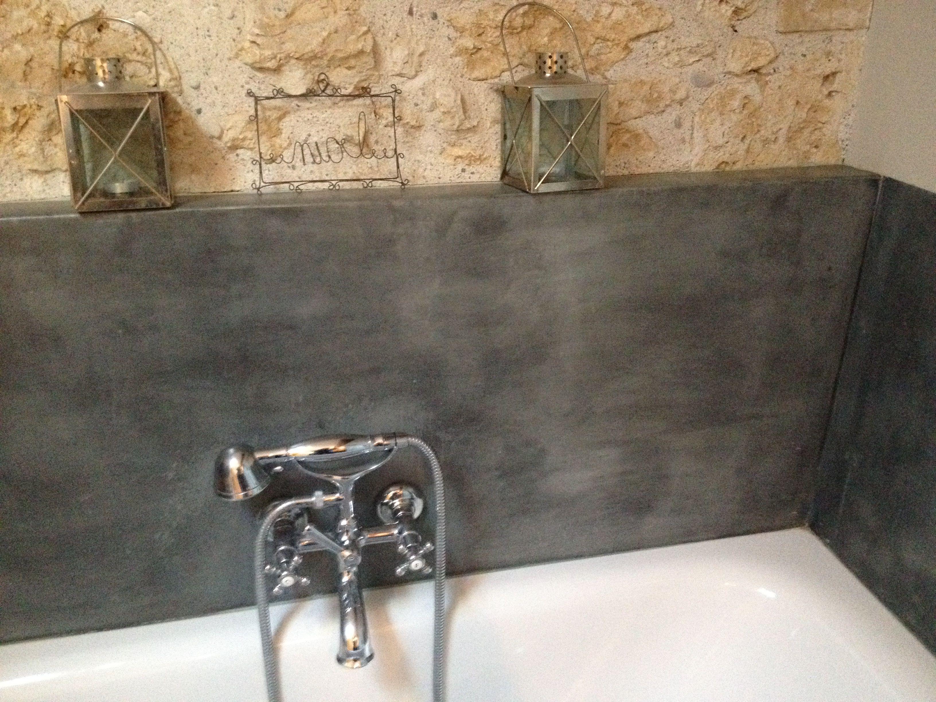 Crédence baignoire zinc patine Intérieur Zinc  Décoration