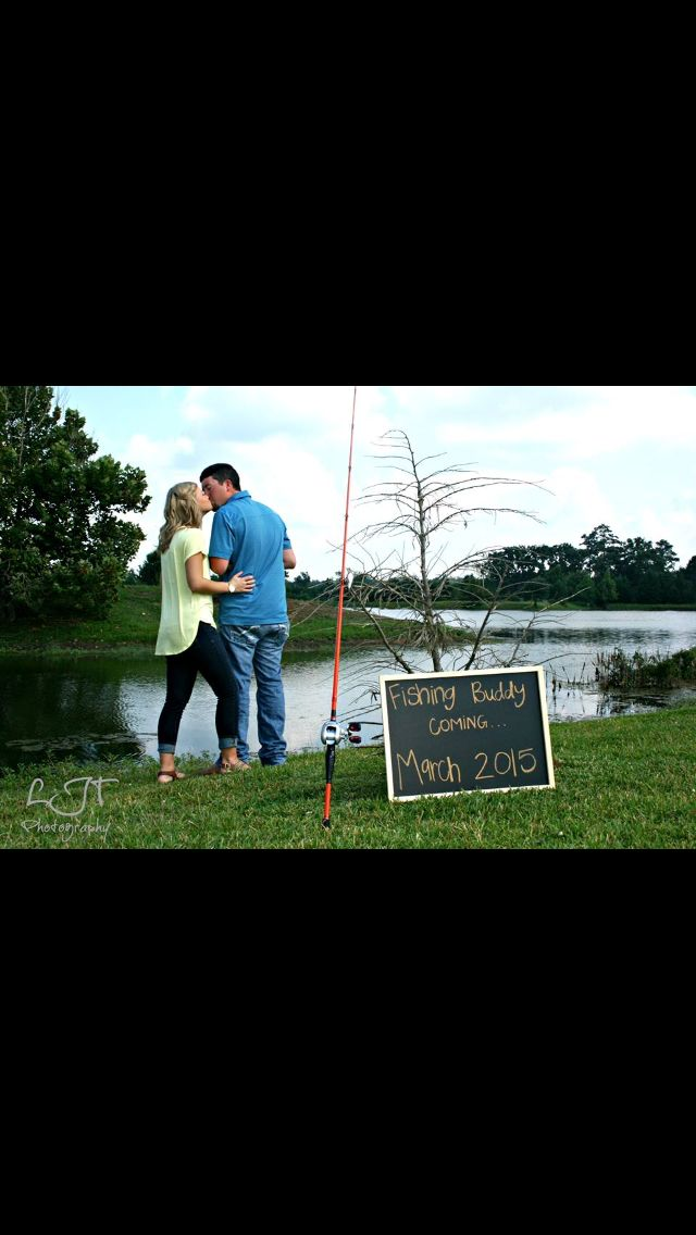 Fishing pregnancy announcement