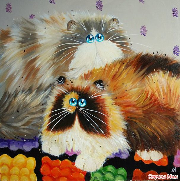 Озорные кошки художницы Ким Хаскинс (много фото) | Картины ...