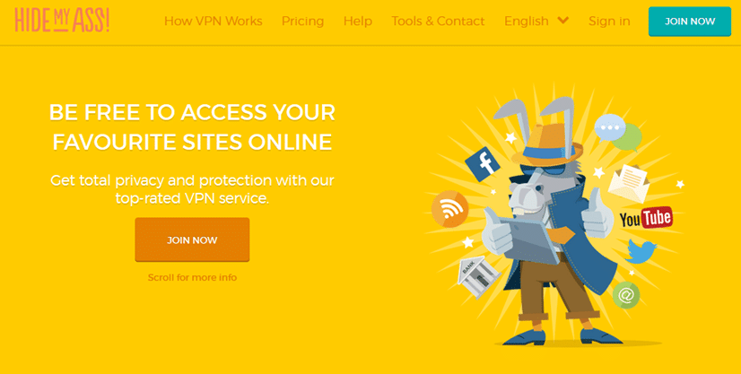 HideMyAss offers both free and paid services through their website. Their VPN service is called HMA Pro VPN. The company was established in the UK in 2005 by a team of Internet security experts. They aimed to provide easy to use services that protected their user's privacy and online identity.