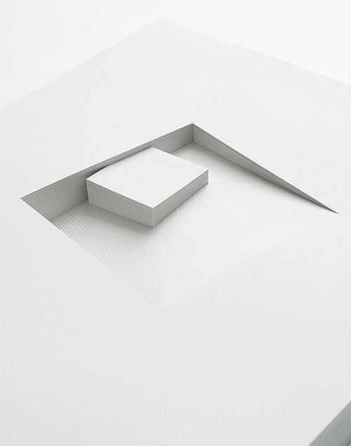 Bianca Chang | Comparative form in white (Squares, CW), 2013 | paper