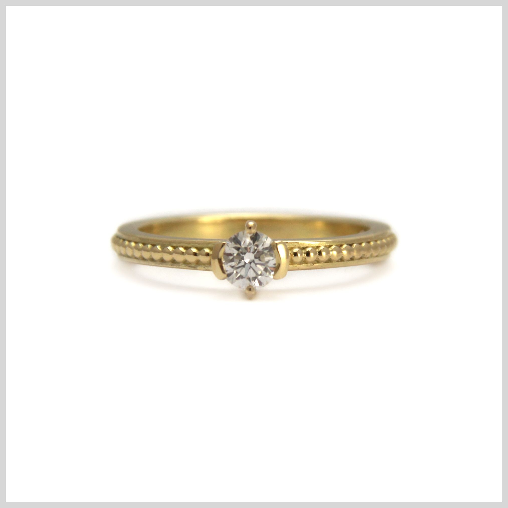 Diamond Ring Handmade Bespoke Gold Platinum Palladium Contemporary