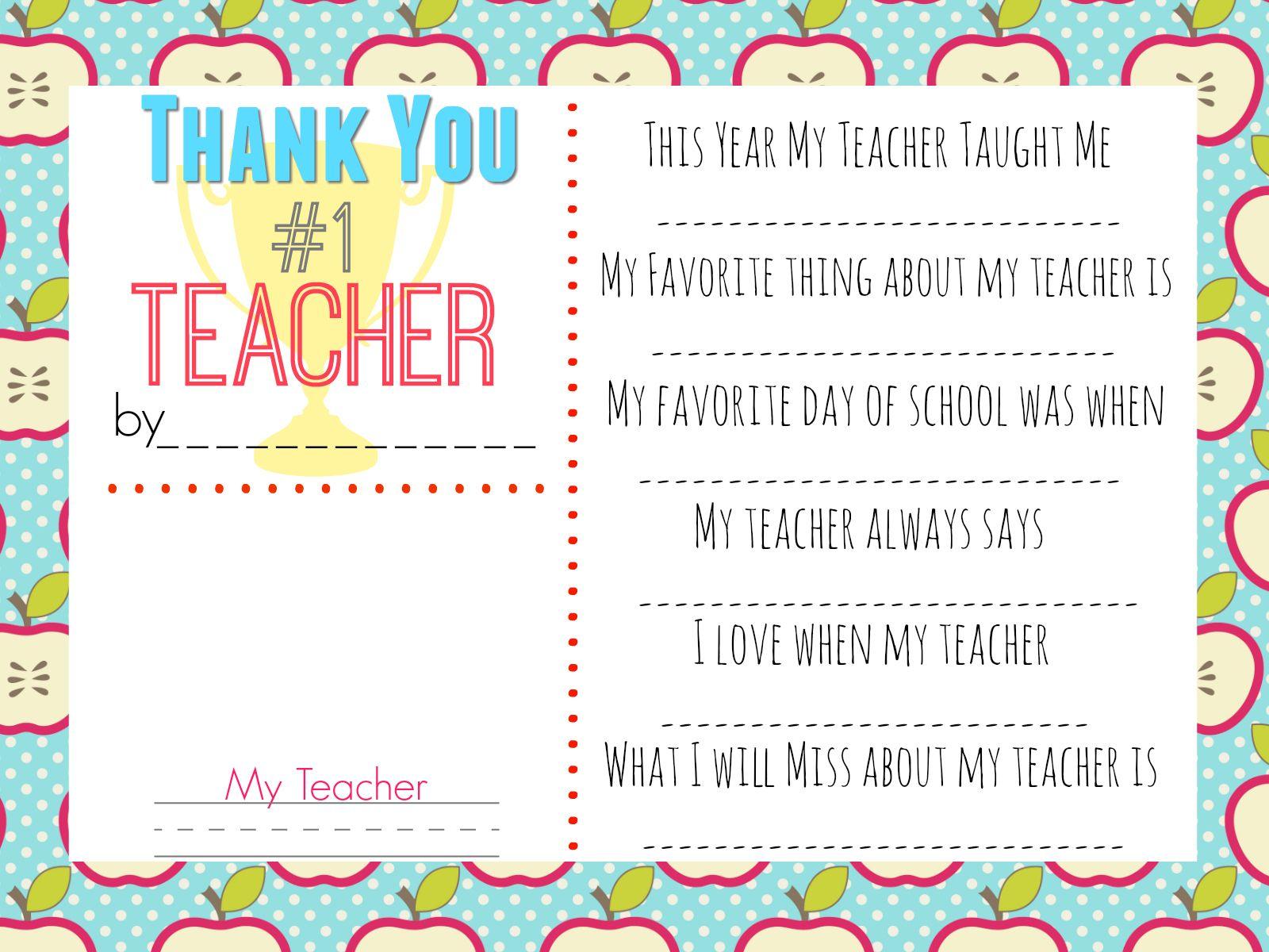 10 Teacher T Ideas W Free Printable
