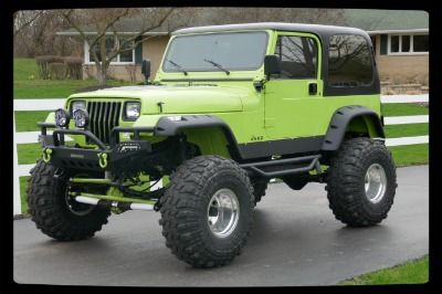 1993 Jeep Wrangler 4x4 Yj Grave Digger Jr Lifted Big Little Truck See Video Green Jeep Wrangler Jeep Yj Jeep Wrangler Yj