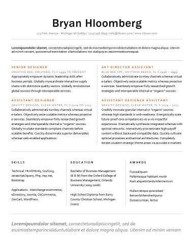 Resume Templates to Highlight Your Accomplishments - professional accomplishments resume