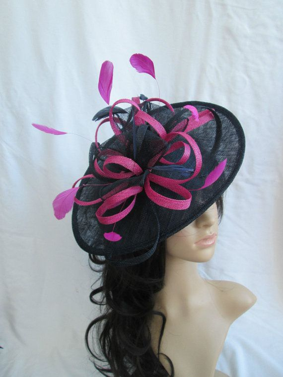 Navy Blue   Pink Fascinator.. Sinamay by SpecialDayfascinator £44.99 click  here to buy it now ef1c5e4ac687