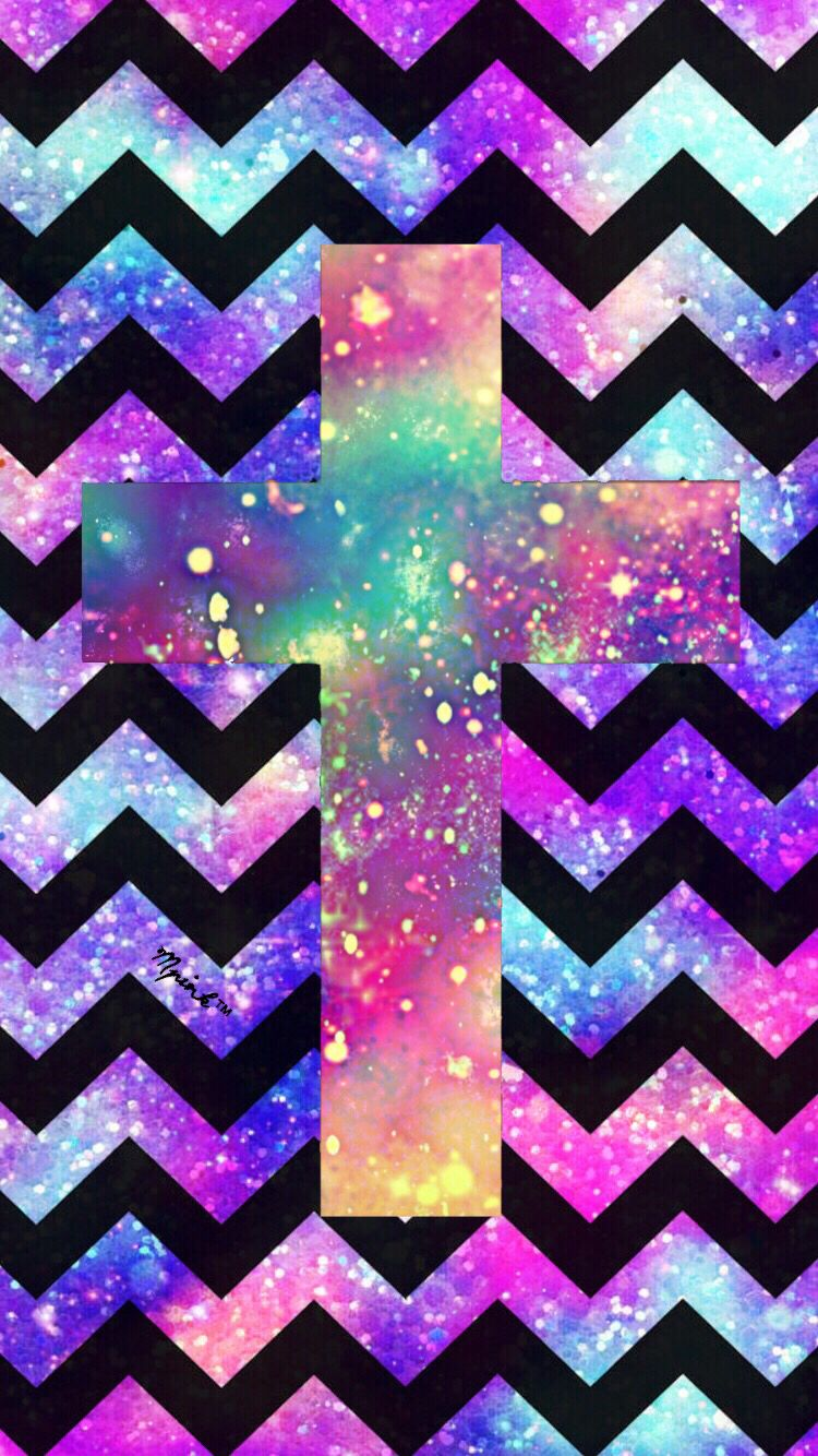Hipster Cross Chevron Wallpaper/Lockscreen Girly, Cute