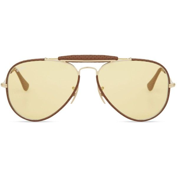 889141f38b095 RAY-BAN Rb3422 aviator sunglasses (2350 MAD) ❤ liked on Polyvore featuring  accessories