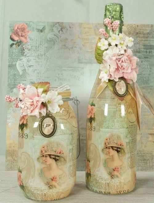 schrumpfbanderolen romantic ladies schrumpfbanderolen pinterest flaschen lablanche und. Black Bedroom Furniture Sets. Home Design Ideas