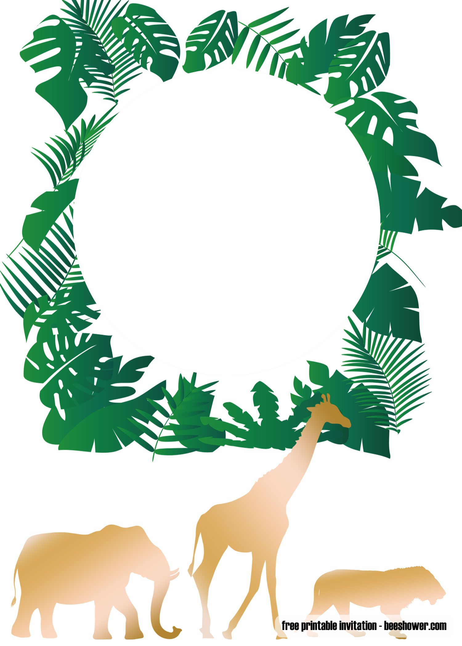 Nice Free Printable Jungle Baby Shower Invitations Templates Jungle Baby Shower Invites Safari Baby Shower Invitations Baby Shower Boy Invitations Free