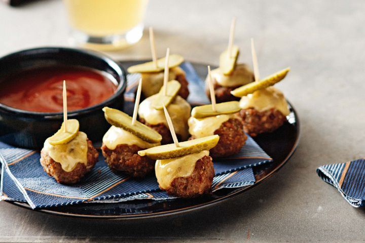 Cheeseburger meatballs Entertaining food
