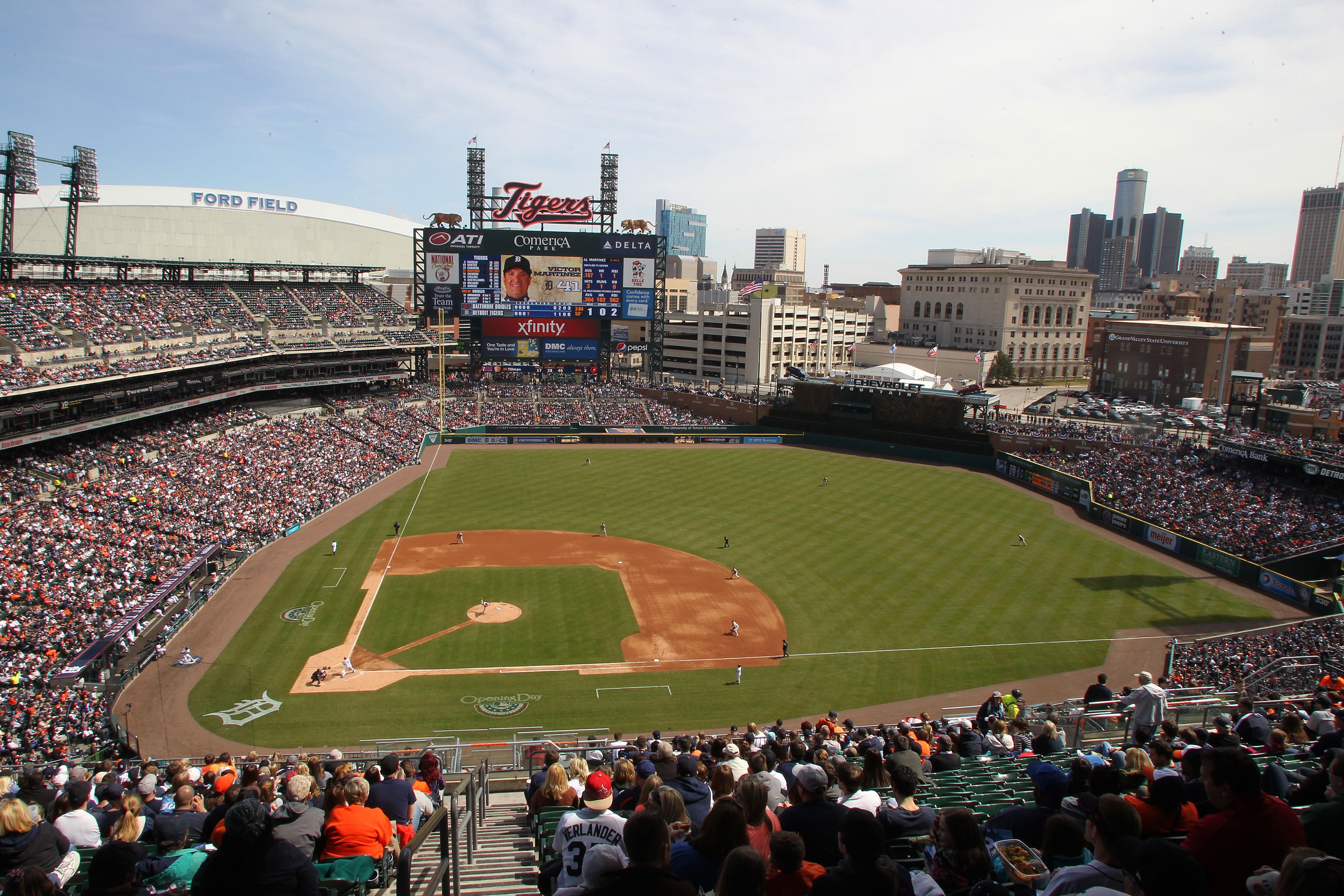 Comerica Park Home Of The Tigers Baseball Park Mlb Stadiums Tigers Baseball
