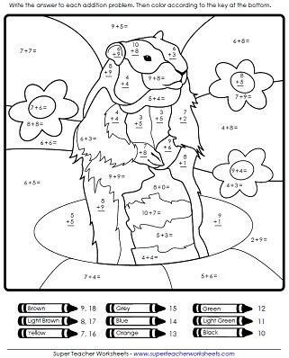 Groundhog Day Math Worksheet Groundhog Day Activities Groundhog