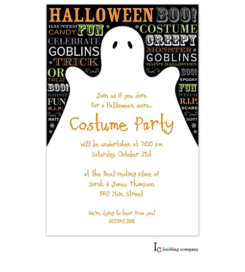 Invitations, Halloween Boo, Cool