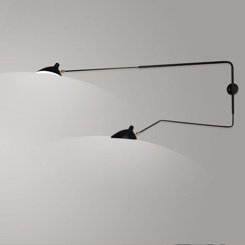 Serge Mouille Designer Wall Lamp Vintage Wall Black Wall Sconce
