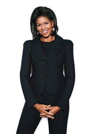Michelle Obama. Rocking her all-black ensemble.