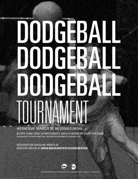 Dodgeball tournament flyer template