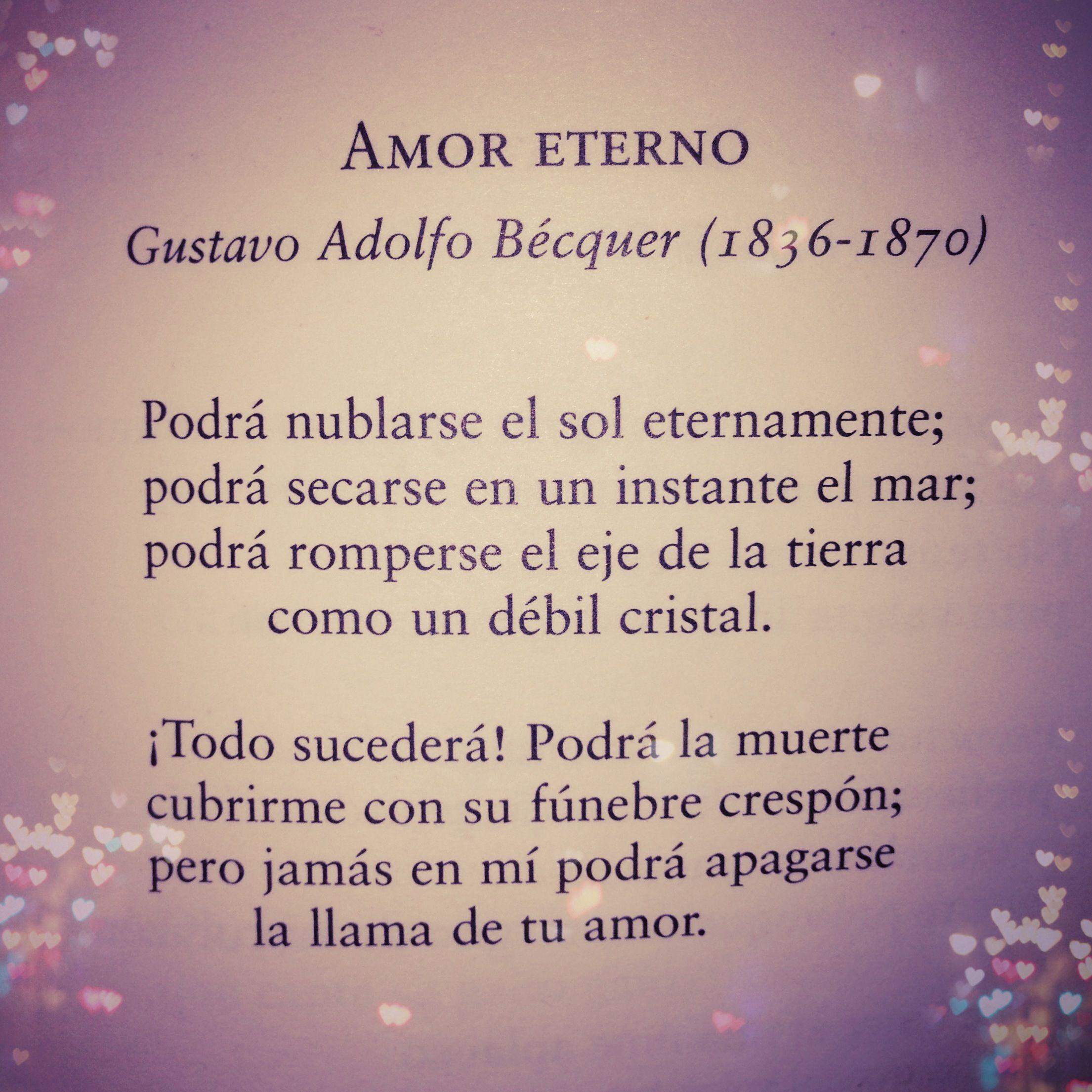 Gustavo Adolfo Bécquer Amor Eterno