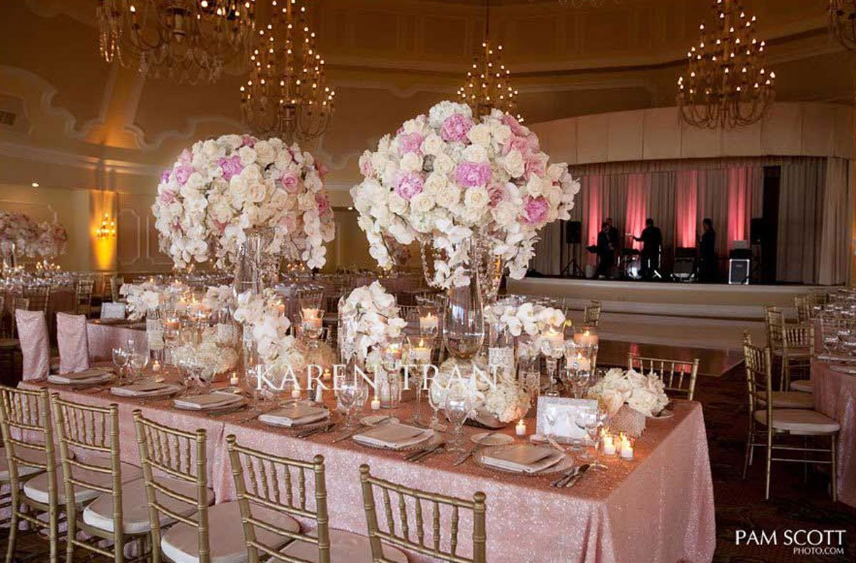 Light Pink And Gold Wedding Google Search