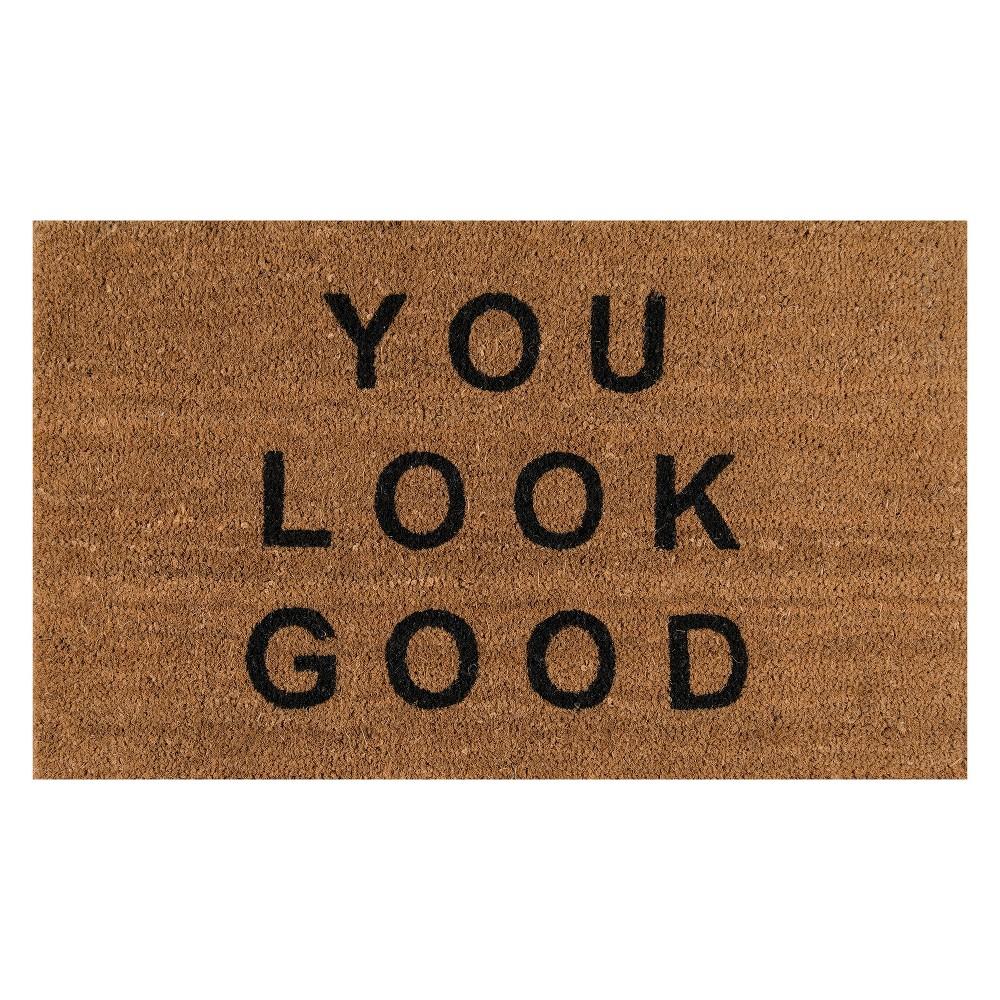 1 6 X2 6 Quote Woven Door Mat Natural Novogratz By Momeni Cool Doormats Door Mat Outdoor Door Mat
