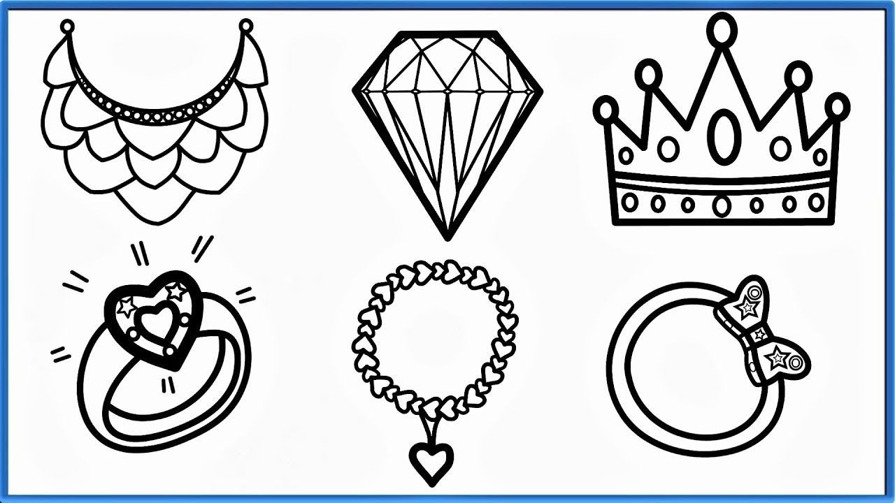 New Ideas Jewelry Coloring Pages Printable Coloring Pages Preschool Coloring Pages Printable Print