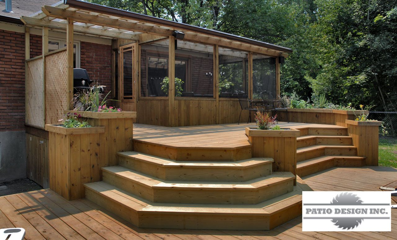 Gaz bo terasse pinterest patios ext rieur et id es for Plan de patio exterieur en bois