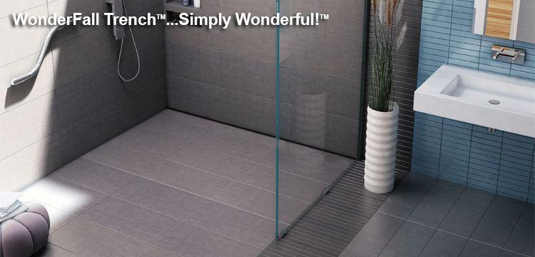 Wonderfall Trench Shower Pans Bases Shower Pan Shower Pans And Bases Shower