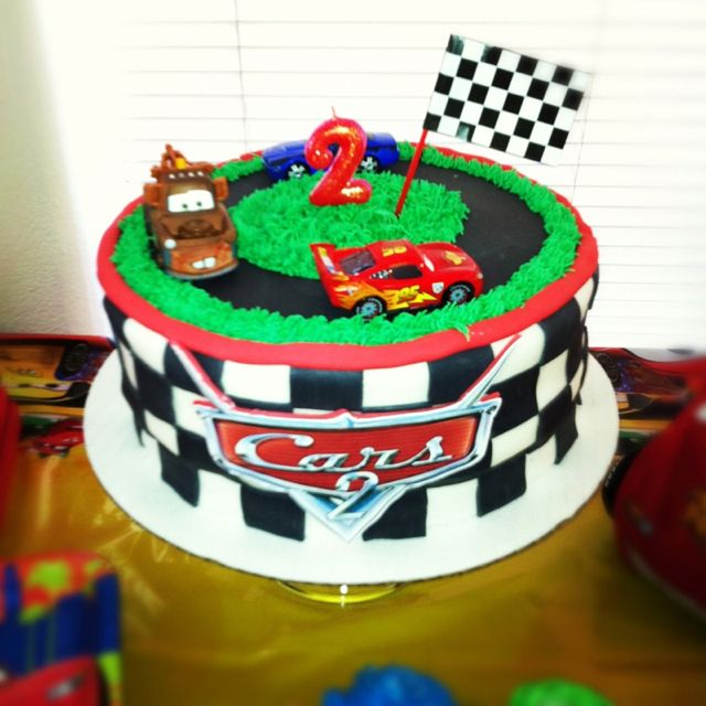 Cars Theme Cake For My Sons 2nd Bday