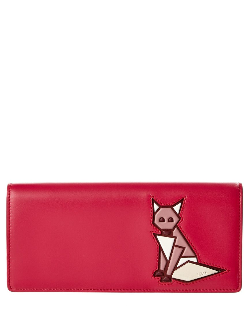 TOD's Fox Leather Continental Wallet is on Rue. Shop it now.